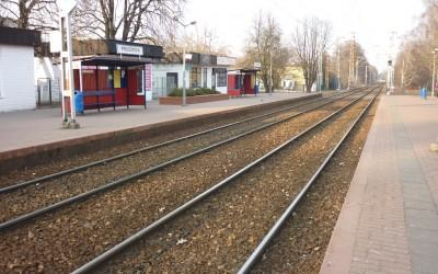 WKD tor w Pruszkowie