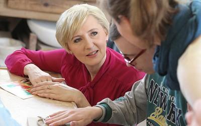 Agata Kornhauser-Duda odwiedziła wychowanków Ośrodka dla Dzieci Niewidomych w Laskach