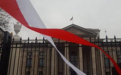 """Pikieta """"Gazety Polskiej"""" pod ambasadą rosyjską"""