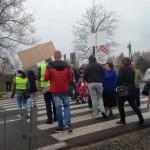 Trzy demonstracje przeciwko linii 400 kV