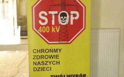 protest przeciwko linii 400 kV