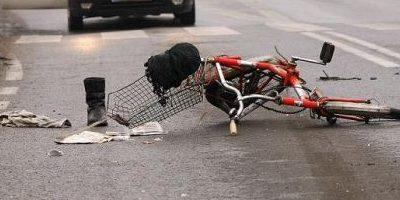 Potrącenie rowerzysty Adamów