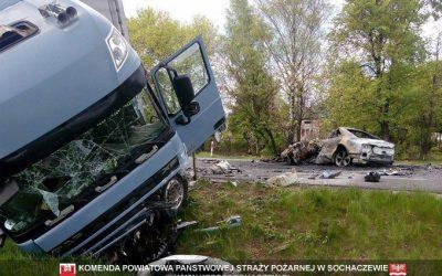 wypadek na drodze nr 92