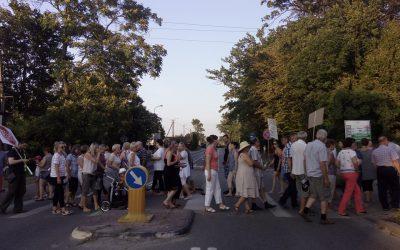 blokady dróg 400 kV Pamiątka Oddział Jaktorów Makówka