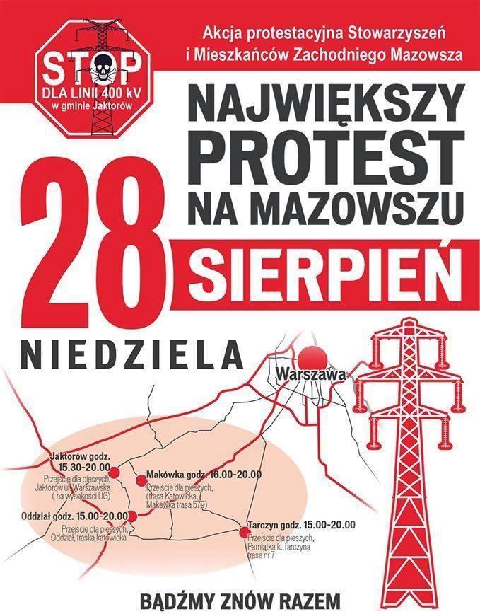 cztery blokady przeciwko 400 kV
