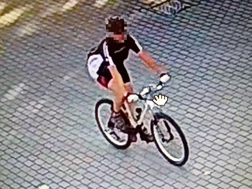 ekshibicjonista rowerzysta zatrzymany