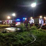 Kolejne podpalenie na terenie powiatu! Spłonęła dawna ferma drobiu koło Ożarowa