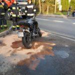 Wypadek w Błoniu. Ranny 16-letni motocyklista [FOTO]