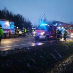 Potrącenie pieszej w Żyrardowie i wypadek w Zimnej Wodzie
