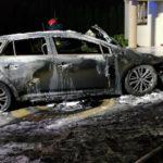 Pożar garażu w Tartaku-Brzózkach. Auto doszczętnie spłonęło
