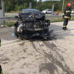 """Kolejny wypadek na krajowej """"ósemce"""", zderzenie z drzewem w Siestrzeni"""