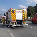 Wypadek w Morach z udziałem motocyklistów. Kursant i instruktor nauki jazdy są ranni