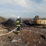 Pożar wysypiska śmieci w Słabomierzu [FOTO]