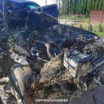 W Macierzyszu SUV wbił się w ciężarówkę [FOTO]