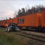 Zderzenie ciągnika z pociągiem towarowym