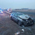 Dwa wypadki na autostradzie, jeden w Mszczonowie