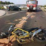"""Zderzenie motocykla z """"osóbówką"""" koło Radziejowic, wypadek w Zbiroży [FOTO]"""