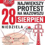 Cztery blokady przeciwko 400 kV. Szykuje się paraliż zachodniego Mazowsza! [INFOGRAFIKA]