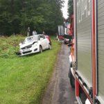 Trzy osoby ranne w wypadku w Walerianach