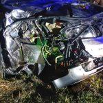 Wypadek w Morach, tir na boku w Roztoce [FOTO]
